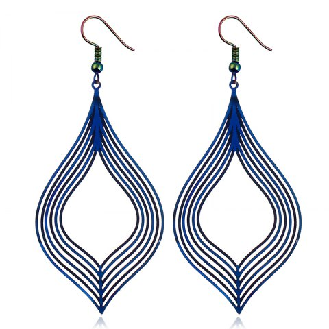Hot The New Stainless Steel Dazzle Colour Earrings Earrings Metal Accessories