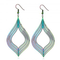 The New Stainless Steel Dazzle Colour Earrings Earrings Metal Accessories -