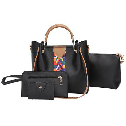 Outfits The New Fashion Ribbon of The Four-Piece Bag with A Simple Shoulder Slanted Shoulder Bag