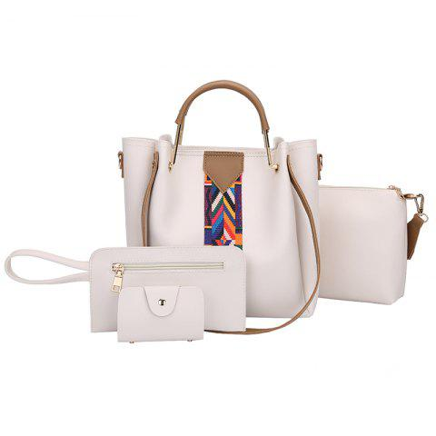 Online The New Fashion Ribbon of The Four-Piece Bag with A Simple Shoulder Slanted Shoulder Bag