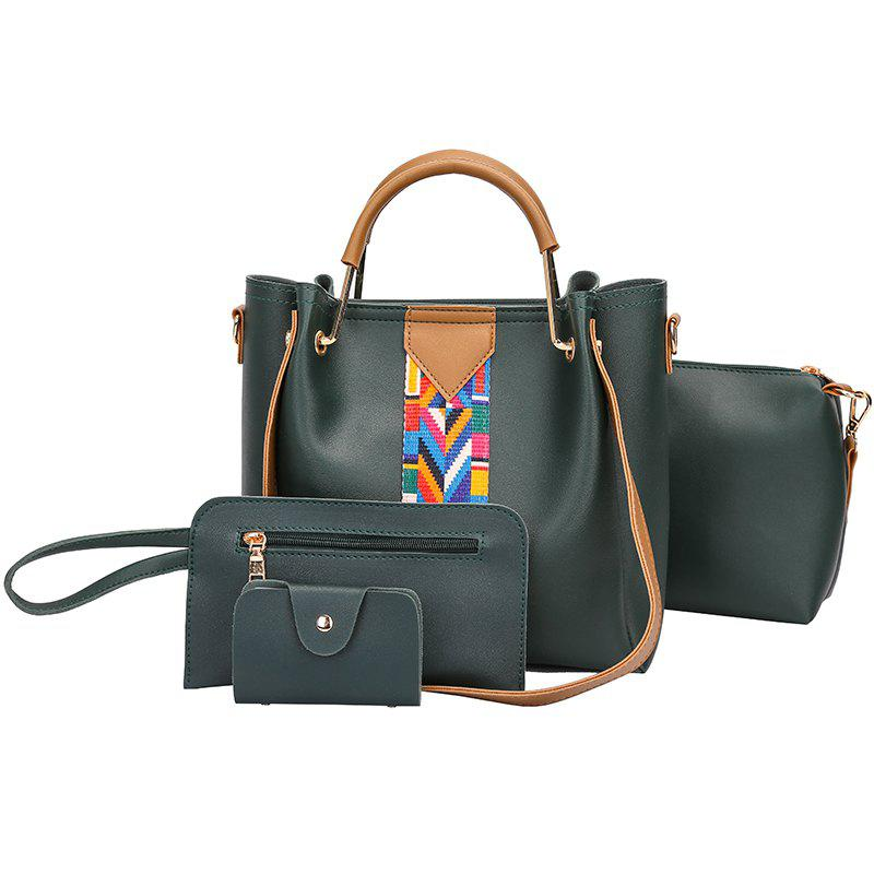 Fancy The New Fashion Ribbon of The Four-Piece Bag with A Simple Shoulder Slanted Shoulder Bag