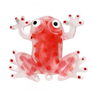 Novelty 6cm Bead Stress Ball Sticky Squeeze Frogs Squeezing Stress Relief Toy 4 Colors -