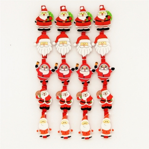 Christmas Variety Santa Claus Wooden Clip Christmas Decoration Wooden Clip 20PCS -