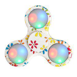 Premium Water Resistant Tri Fidget LED Hand Spinner With On/Off Switch 2 Mode Flashing LED Lights -