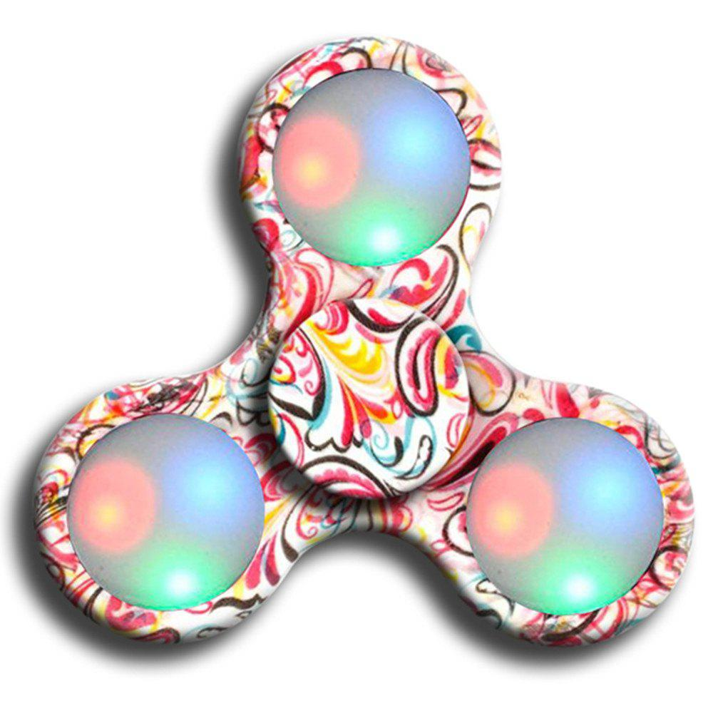 Chic Premium Water Resistant Tri Fidget LED Hand Spinner With On/Off Switch 2 Mode Flashing LED Lights
