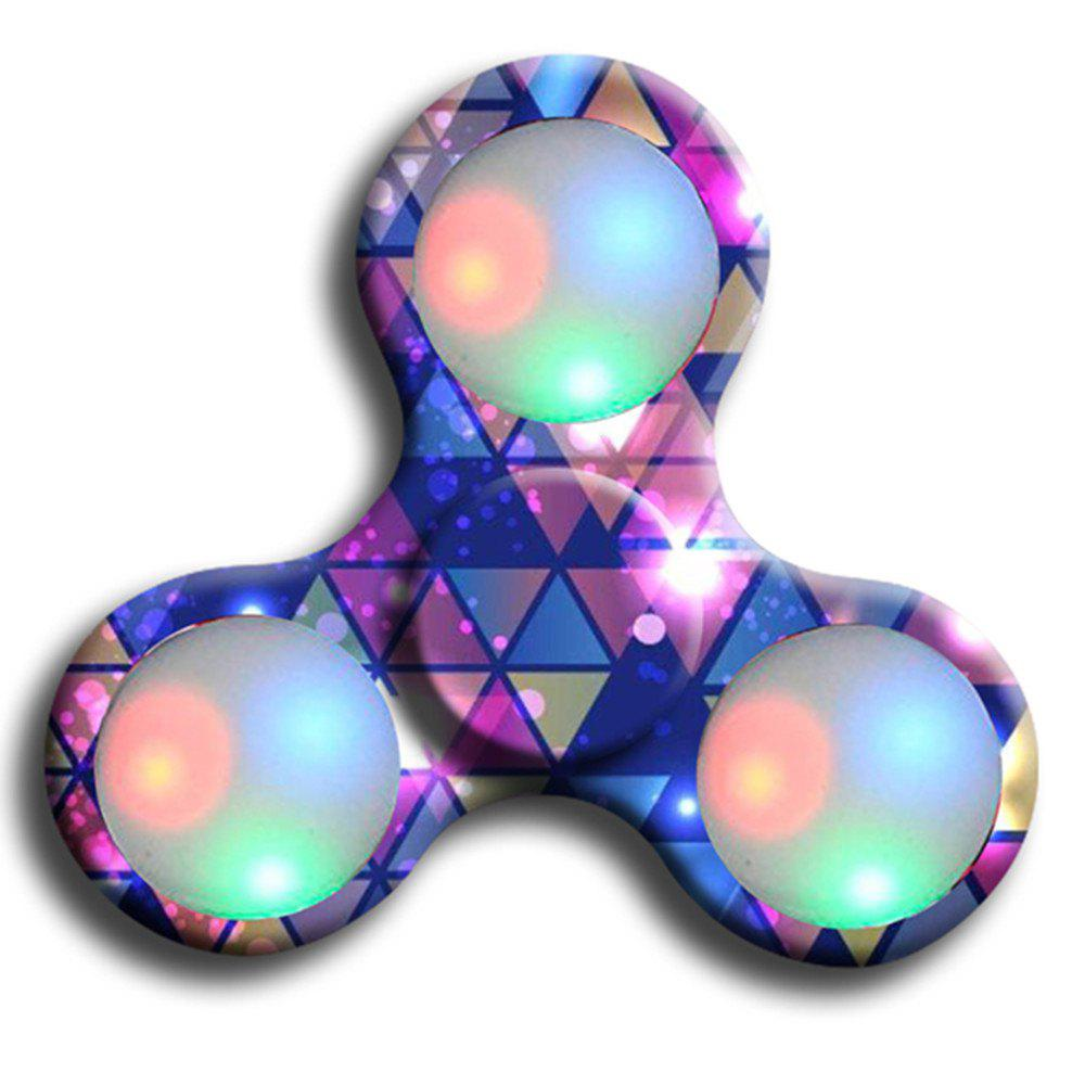 Shops Premium Water Resistant Tri Fidget LED Hand Spinner With On/Off Switch 2 Mode Flashing LED Lights