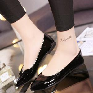Flat-Bottomed New Low-Heeled Professional Comfort Work Leather Shoes -