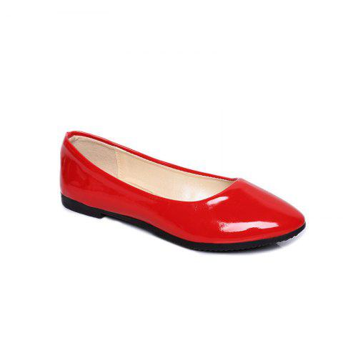 Outfit Flat-Bottomed New Low-Heeled Professional Comfort Work Leather Shoes