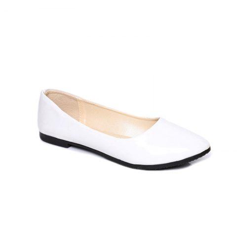 Chic Flat-Bottomed New Low-Heeled Professional Comfort Work Leather Shoes
