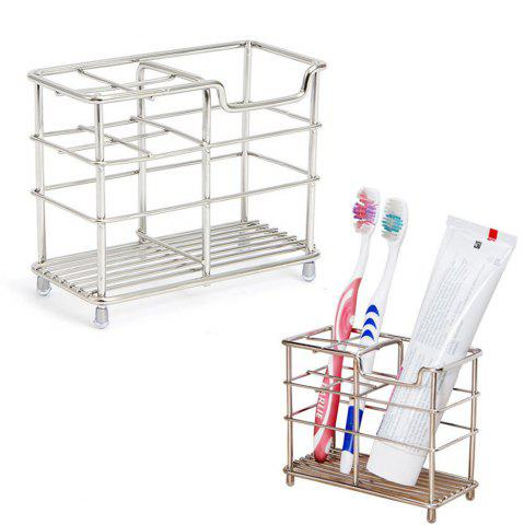 Shops ORZ Stainless Steel Toothbrush Holder Toothpaste Razor Comb Stand Bathroom Organizer