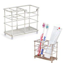 ORZ Stainless Steel Toothbrush Holder Toothpaste Razor Comb Stand Bathroom Organizer -