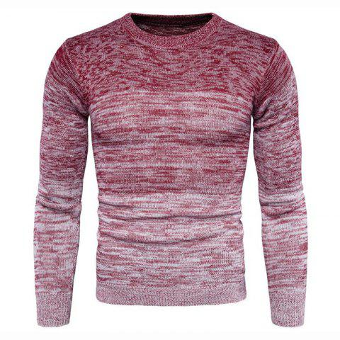 Cheap Men's Going out Casual Daily Holiday Simple Regular Pullover Color Block Round Neck Long Sleeves Wool Sweater