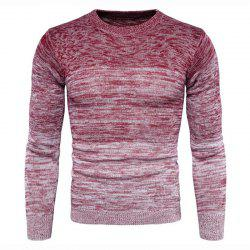 Men's Going out Casual Daily Holiday Simple Regular Pullover Color Block Round Neck Long Sleeves Wool Sweater -