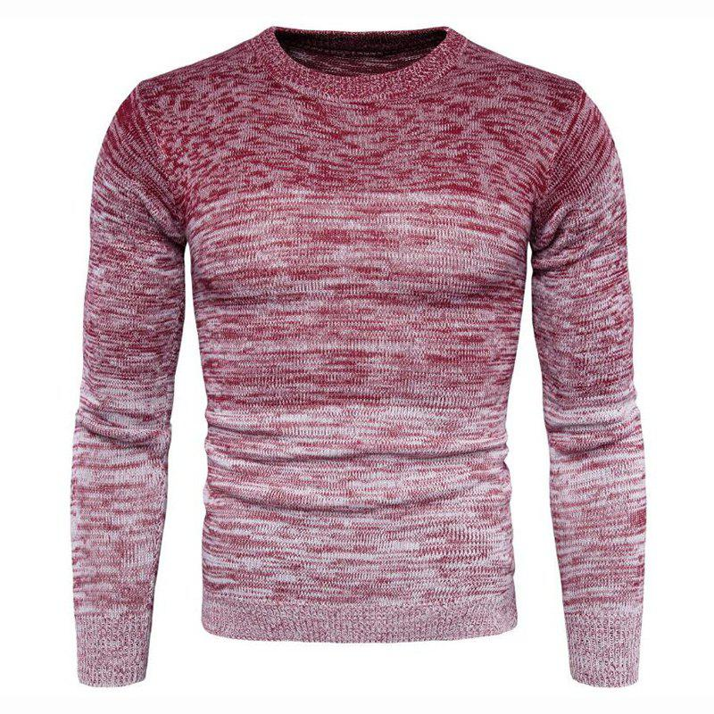Fancy Men's Going out Casual Daily Holiday Simple Regular Pullover Color Block Round Neck Long Sleeves Wool Sweater