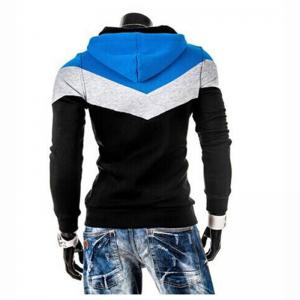 Men's Plus Size Color Block Sport Casual Hoodie -