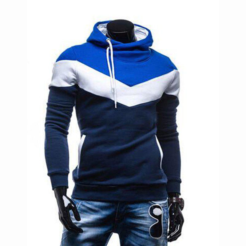 Latest Men's Plus Size Color Block Sport Casual Hoodie