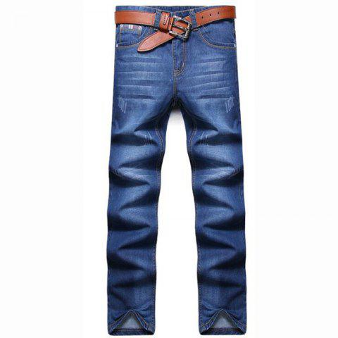 Affordable Men's High Rise Inelastic Jeans Pants Simple Jeans Solid