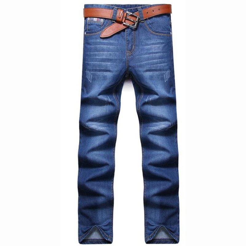 Latest Men's High Rise Inelastic Jeans Pants Simple Jeans Solid