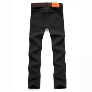 Men's Mid Rise Micro Elastic Jeans Chinos Pants Simple Jeans Chinos Solid -