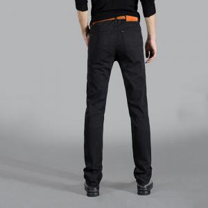 Men's Mid Rise Micro Elastic Jeans Pants Chinoiserie Simple Straight Solid -