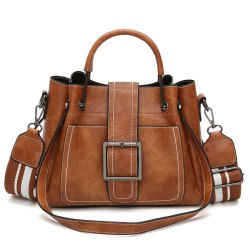 Fashion Large Capacity Wide Shoulder Strap Messenger Bag -