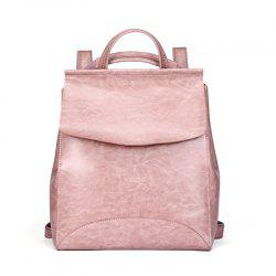 SITIYA Vintage Leather Backpack for Girls Schoolbag Casual Daypack Shoulder Bag -