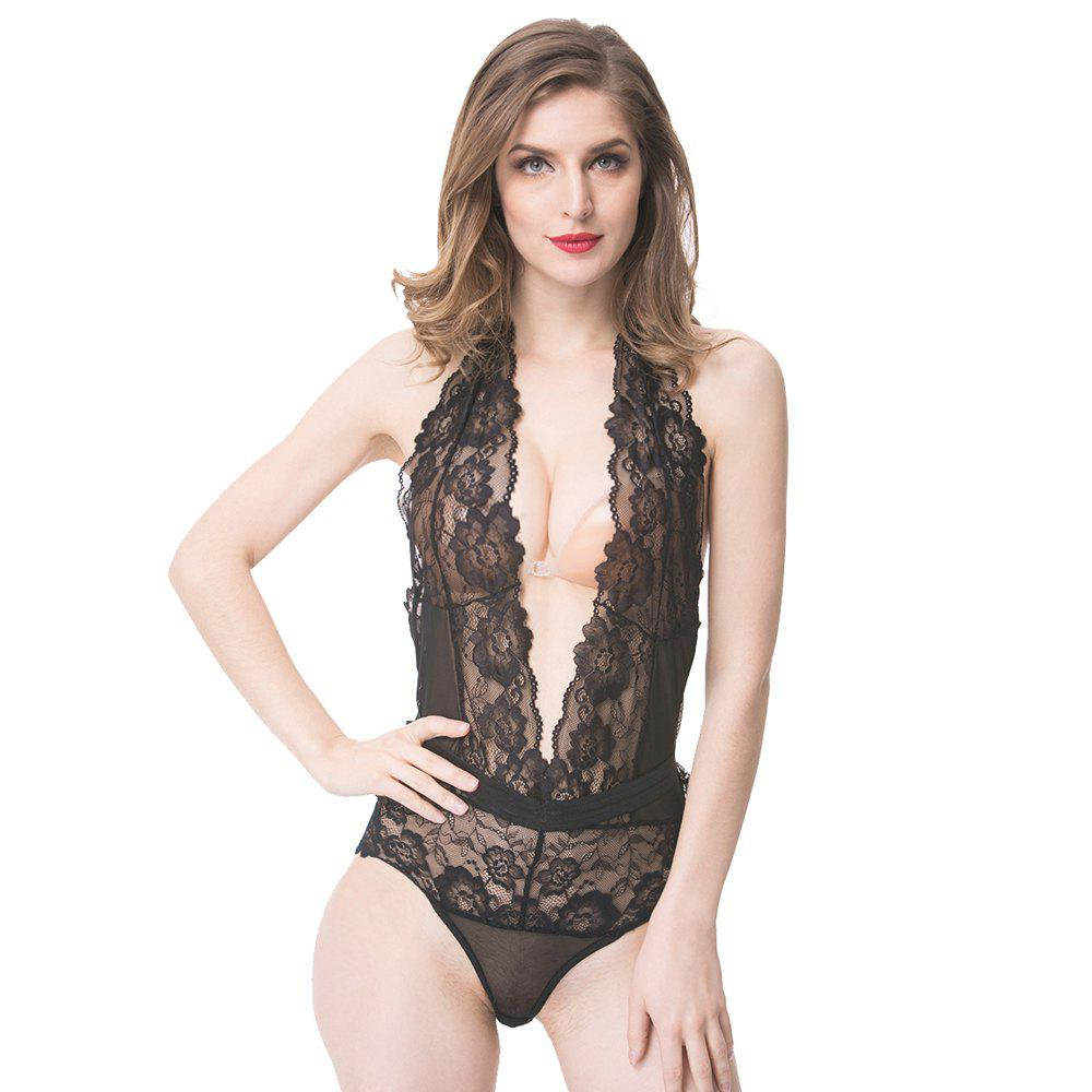 0d3276d4e463 Cheap Fashion Design Sexy Lace Black Sleepwear Backless Dress Perspective  Nightclothes