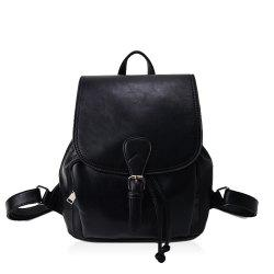 The Korean version of the simple PU bucket bag travel lady Backpack -