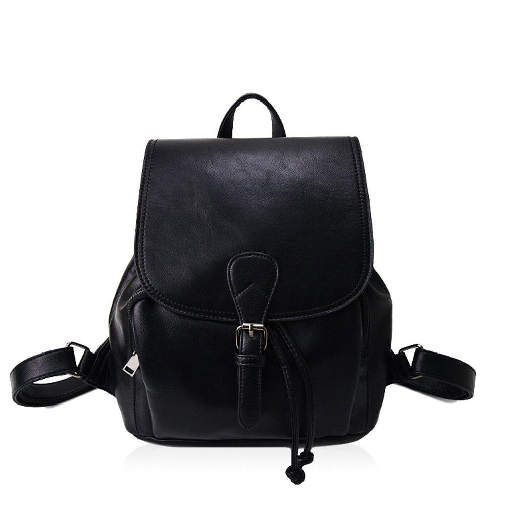 Shop The Korean version of the simple PU bucket bag travel lady Backpack
