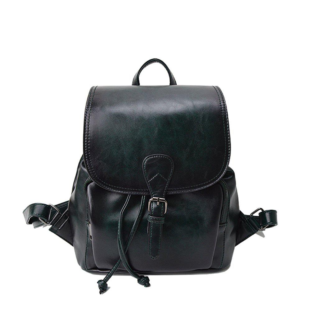 Trendy The Korean version of the simple PU bucket bag travel lady Backpack