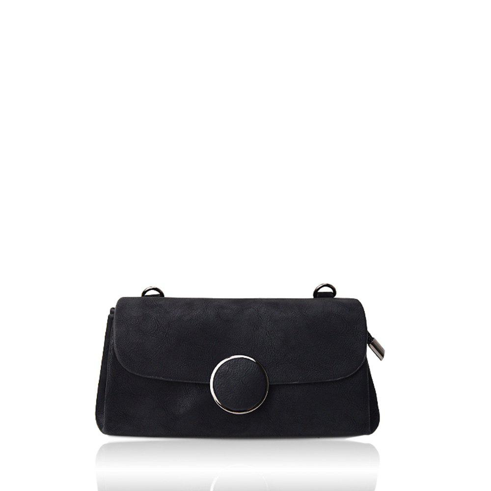 Fancy A simple small circle buckle diagonal single shoulder bag hand bag with rectangle