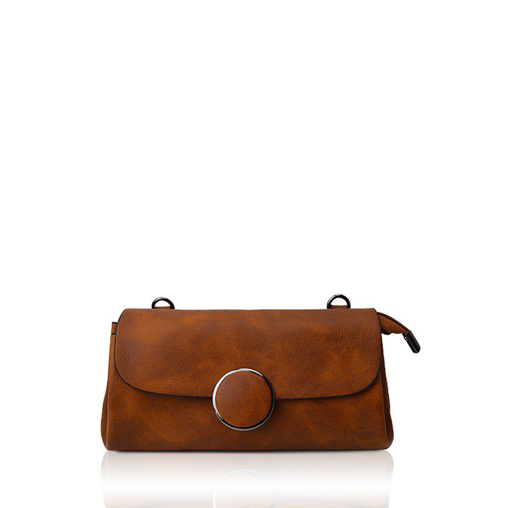 Affordable A simple small circle buckle diagonal single shoulder bag hand bag with rectangle