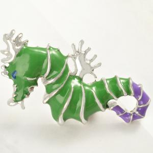 Seahorse Animal Brooch for Men -