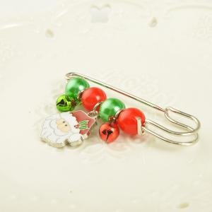 X'mas Brooch Pins Santa Charm Pendants Christmas Gift Stick Drop Men Women Jewelry -