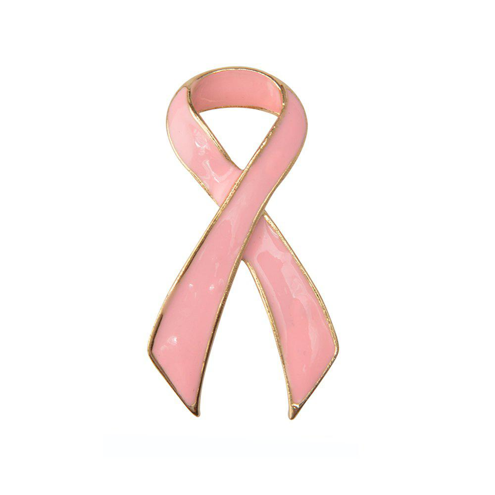 Fashion Pink Ribbon Brooch Fashion Jewelry for Women