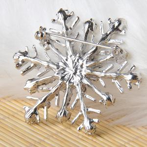 Snowflake Charms Pendants Pins Christmas Brooch Women Brooches Pins Decoration Xmas Merry Xmas Gifts -