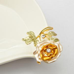 Rose Flower Brooch Garment Accessories Wedding Bridal Jewelry Crystal Brooches for Men and Women -