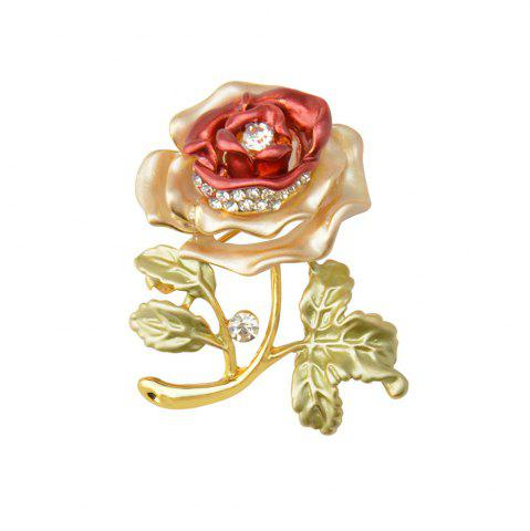 Cheap Rose Flower Brooch Garment Accessories Wedding Bridal Jewelry Crystal Brooches for Men and Women