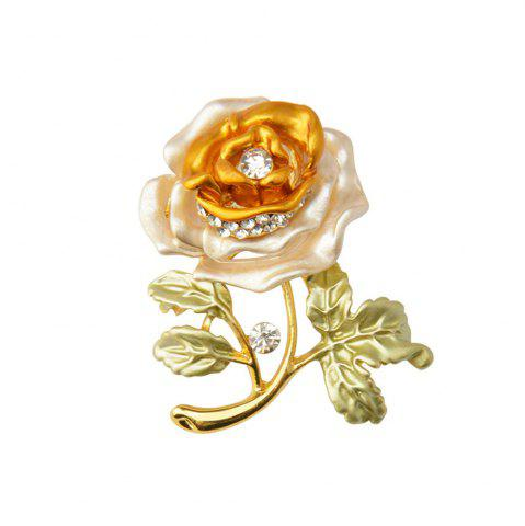 Outfits Rose Flower Brooch Garment Accessories Wedding Bridal Jewelry Crystal Brooches for Men and Women