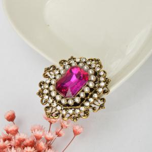Vintage Brooches Pin with Large CZ Stone Pendent waterdrop Rhinestone Unique Red jewelry Green jewelry 4 colors -