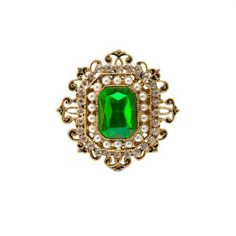 Outfit Vintage Brooches Pin with Large CZ Stone Pendent waterdrop Rhinestone Unique Red jewelry Green jewelry 4 colors