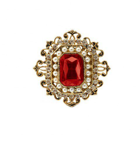 Affordable Vintage Brooches Pin with Large CZ Stone Pendent waterdrop Rhinestone Unique Red jewelry Green jewelry 4 colors