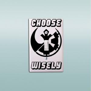 Classic Movie Star Wars Choose Wisely Light Switch Sticker Vinyl Wall Decal Home Decor -