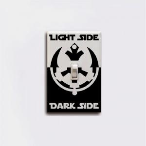 Dark Side Light Side Switch Sticker Movie Vinyl Wall Sticker Home Decor -