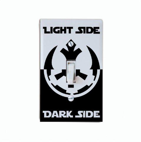 Cheap Dark Side Light Side Switch Sticker Movie Vinyl Wall Sticker Home Decor