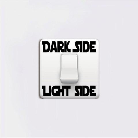 Hot Dark Side Light Side Words Switch Sticker Cartoon Vinyl Wall Stickers Home Decor