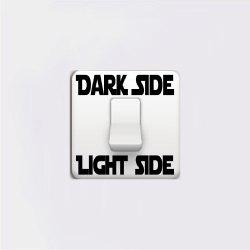 Dark Side Light Side Words Switch Sticker Cartoon Vinyl Wall Stickers Home Decor -