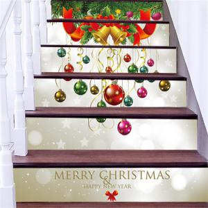 ZB013 Personalized Christmas 3D Self-Adhesive Painting Decoration Home Drawing Living Room Stairs Sticker -