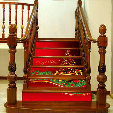 Buy ZB014 Personalized Christmas Tree 3d Self-Adhesive Painting Decorative Stairs Sticker