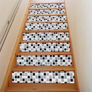 ZB16 Creative Corridor 3d Mosaic Decorative Wall Sticker Staircase Sticker -